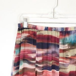 Christopher & Banks XL Multi-color Midi Skirt NWT